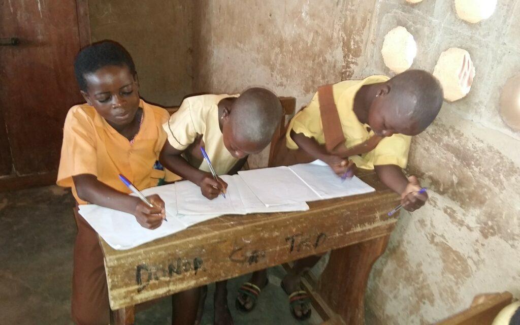 Gode resultater hos skolebørnene i Ghana